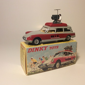 Dinky Toys #1404 Citroen Break ID19 Radio Television Luxembourg Camera car - Model Cars