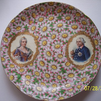 My Mystery Plate with Pink Daisies