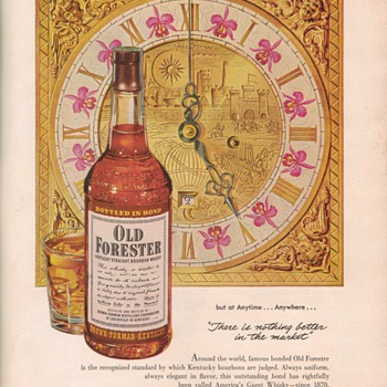 1950 Old Forester Bourbon Advertisement - Advertising