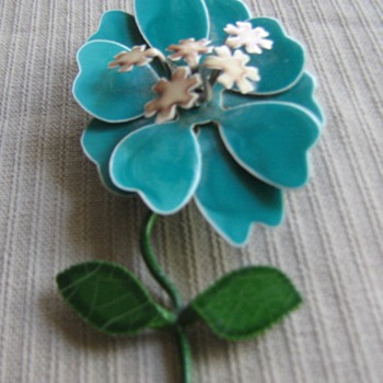 1960's-70's enamel flower pins