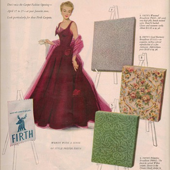 1950 Firth Carpet Advertisements