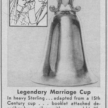 1954 Sterling Marriage Cup Advertisement - Advertising