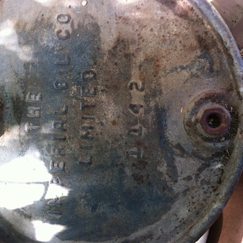 50 gallon Imperial Oil drum. Rivet seam. Does anyone know anything about this item? - Petroliana