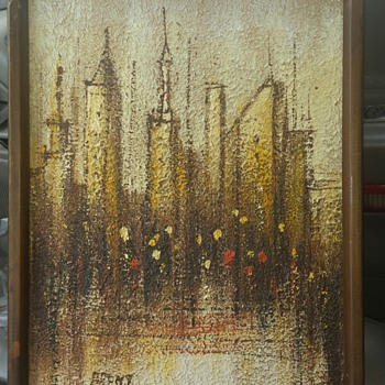It looks to be 1960's-1970's abstract painting signed BRENT - Visual Art