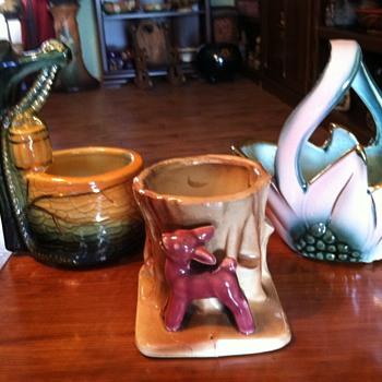 Vintage Planters 40's - 50's - Art Pottery