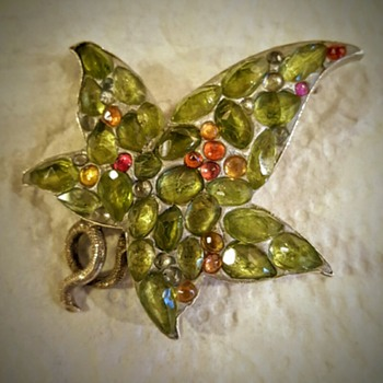 Damaged Scottish leaf brooch rebirth!