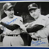 Autographed B&amp;W Photo of Joe DiMaggio &amp; Mickey Mantle