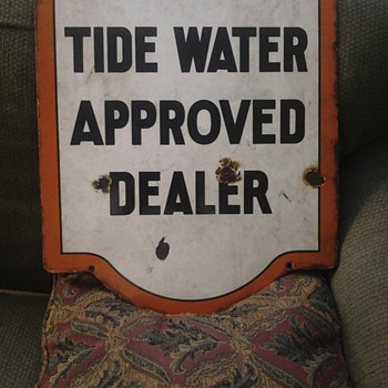 Tide Water sign, found by my son.