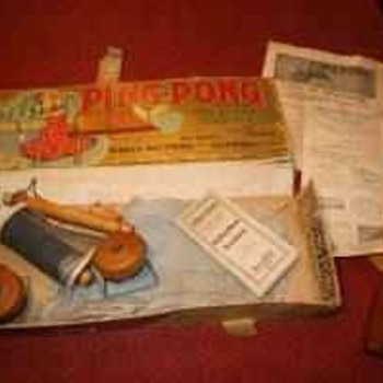 1902 parker brothers ping pong game....