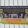 Pre-1920's Cardboard Trolley Car Furniture Store Advertisement Sign