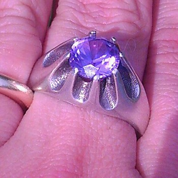 "Silver .925 and ""amethyst?"" ring - Fine Jewelry"