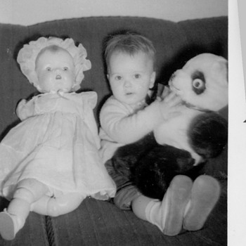  Me My first Doll and Teddy Bear ( Hope this doesn&#039;t date me :-)  - Photographs