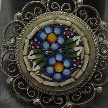 Early 20th c. - Micro Mosaic Clip Earrings - Fine Jewelry
