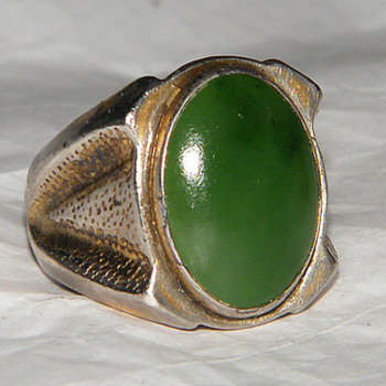 Jane Yikaazba Popovitch Navajo Jade Ring