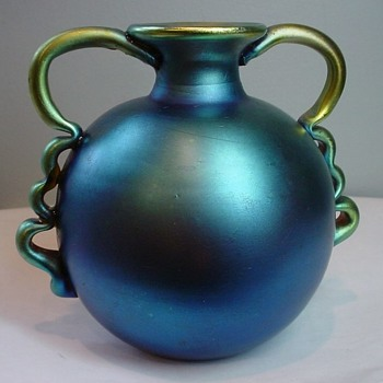 WMF BLUE MYRA  GLASS J279, DOCUMENTED.