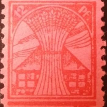 German 12 Pf Day Stamp, 1945