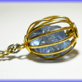 MINE  --  Vintage Young Girl's Necklace -- ( A Cage Necklace ) - Fine Jewelry