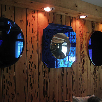 Blue Mirror Tables and Wall Blue Mirrors  - Furniture