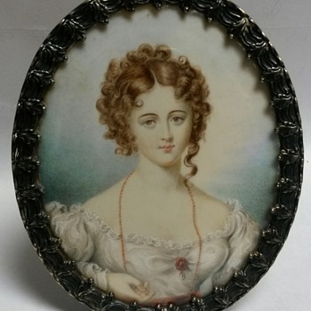 Tiffany&Co MAKERS STERLING SILVER Miniature Portrait