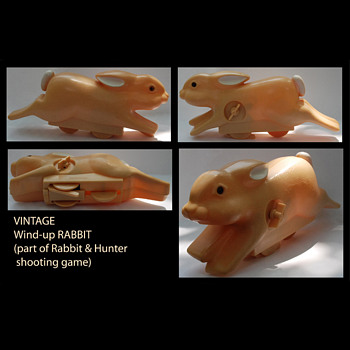 Wind-up Rabbit from shooting toy/game - Animals