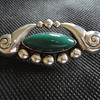 Vintage Mexican Arts & Crafts Silver Brooch by Villa 1940s?