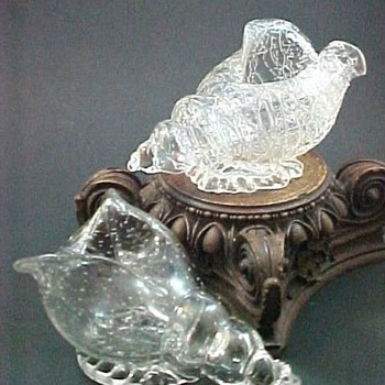 Loetz Colourless Chine' and Controlled Bubble Seashells - Art Glass