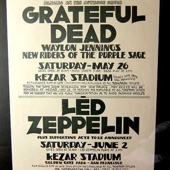 Dead & Led, 1973, San Francisco - Posters and Prints