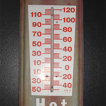 70&#039;s Dr Pepper Hot or Cold thermometer