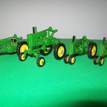 custom made 1/64th scale ertl John Deere toys