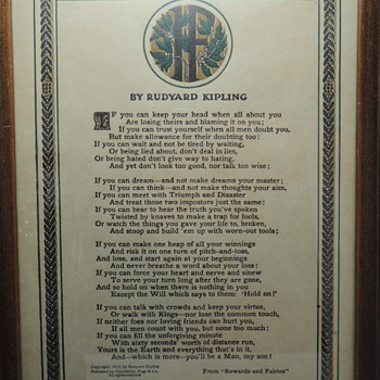 "REINTHAL & NEWMAN - ""IF"" by Rudyard Kipling - Posters and Prints"