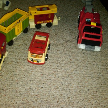 Fisher-Price - through the years - then and now - Model Cars