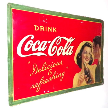 1941 Coca-Cola Tin Sign - Coca-Cola