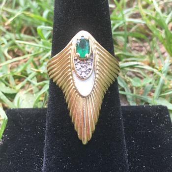 Vintage 14k Gold ERTE Ring  - Gold