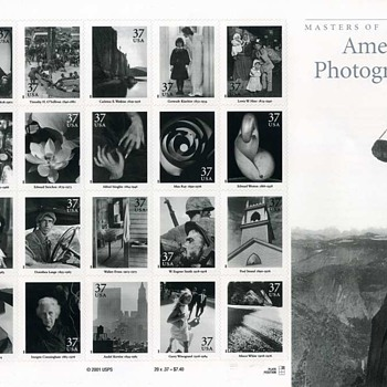 Celebrating 175 Years of Photography – part 2 (Masters of American Photography) - Stamps