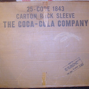 1960s Coca-Cola rack signs in original box