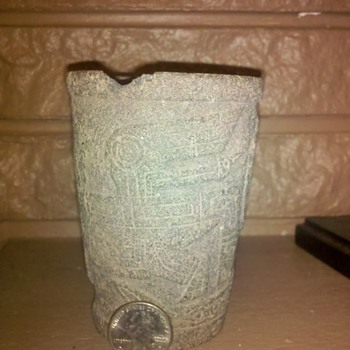 Ancient Aymara cup Tiwanaku, Bolivia