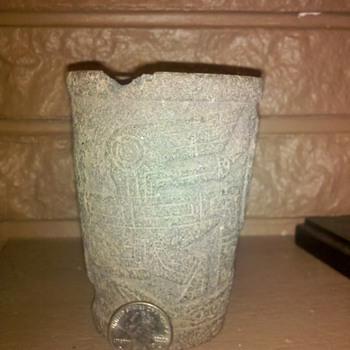 Ancient Aymara cup Tiwanaku, Bolivia