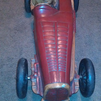 Red Wood Racing Car