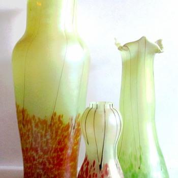 """PALLME KONIG """"DIANA SHIFT"""" : ALL THREE KNOWN DECORS - Art Glass"""