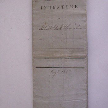 1868 Adoption Contract - Paper