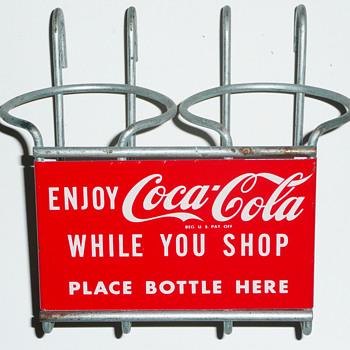 Coca Cola Shopping Cart Bottle Holder - Coca-Cola
