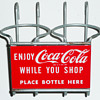 Coca Cola Shopping Cart Bottle Holder