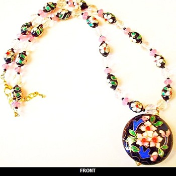 Vintage Cloisonne Necklace - Costume Jewelry