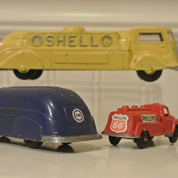 Shell, Pure, and Phillips 66 Tanker Tootsie Toys; Gift from Buddy  :) - Model Cars
