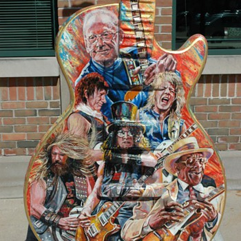 Les Paul Guitar Displays in our Town ,There are to many to post  - Music