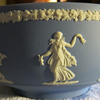 1976 Wedgwood Collector Society - 8&quot; Blue &amp; White Jasperware bowl