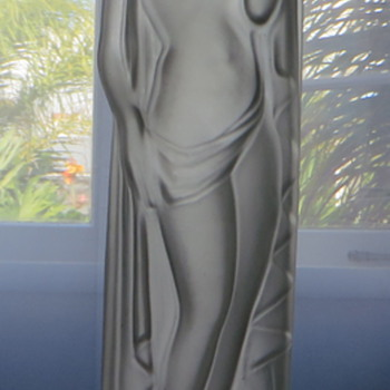 Satin Lady Lamp Base - Art Deco