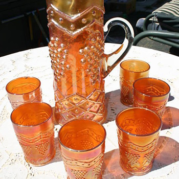 Lattice & Grape Water set - marigold - Glassware