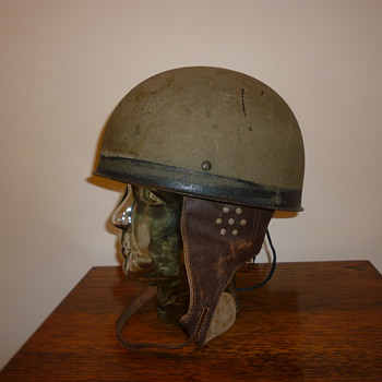 British WWII early steel Dispatch riders steel helmet 1942. - Military and Wartime