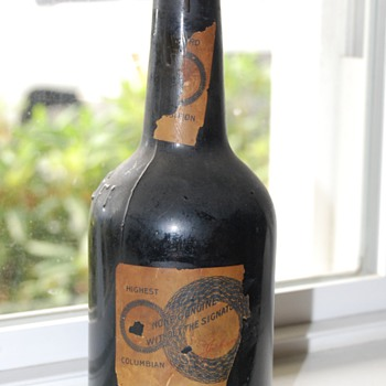 Unopened antique beer bottle 1800&#039;s NEAT!